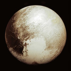 Global mosaic view of Pluto
