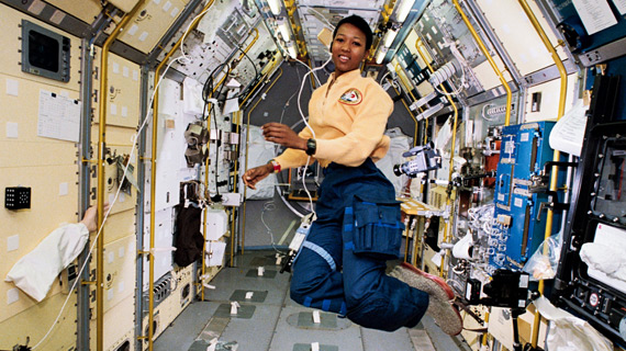 Dr. Mae Jemison was inspired by Uhura to become the first African-American woman in space.
