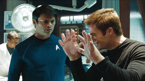 Kirk's big, allergic reaction hands... What does this have to do with Star Trek?