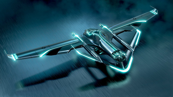 This is the 3-person version of the Light Jet; there was also a 1-person craft.