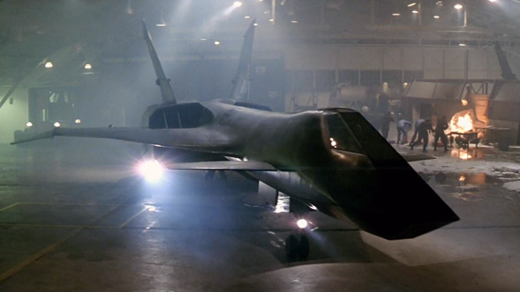 The MiG-31 in a Russian hangar right before it's stolen in Firefox.