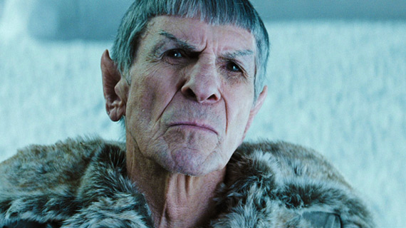 Leonard Nimoy reprised his role as the Vulcan Spock to provide continuity from the original timeline.