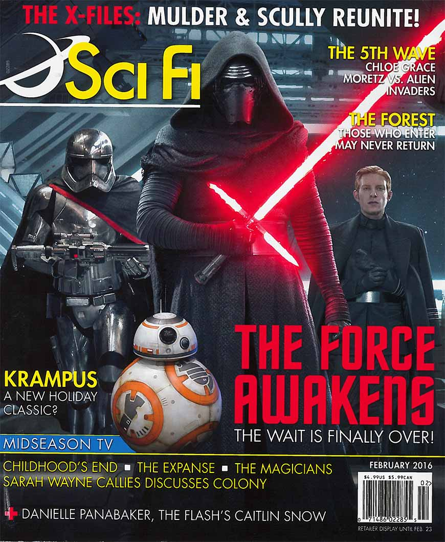Full-cover of Feb, 2016 Sci Fi Magazine featuring Oceanus.